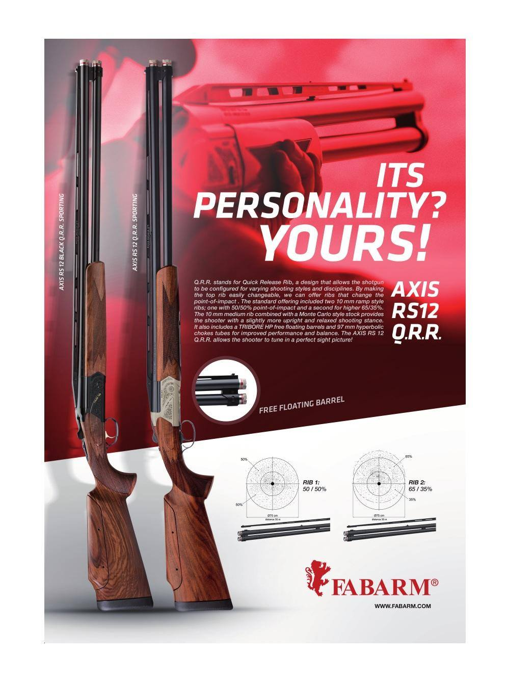 Fabarms Axis S&H - 12G - 30 inch BBL